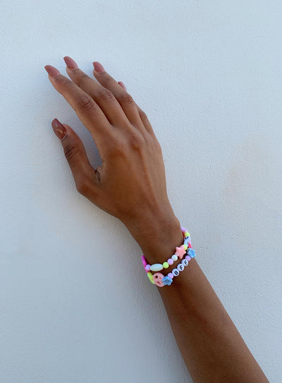 DIY Friendship Bracelet Set Pastel