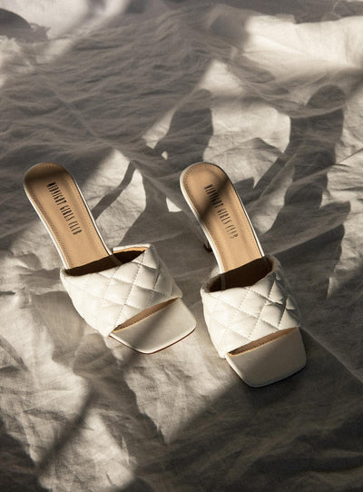 The Leigh Heels White