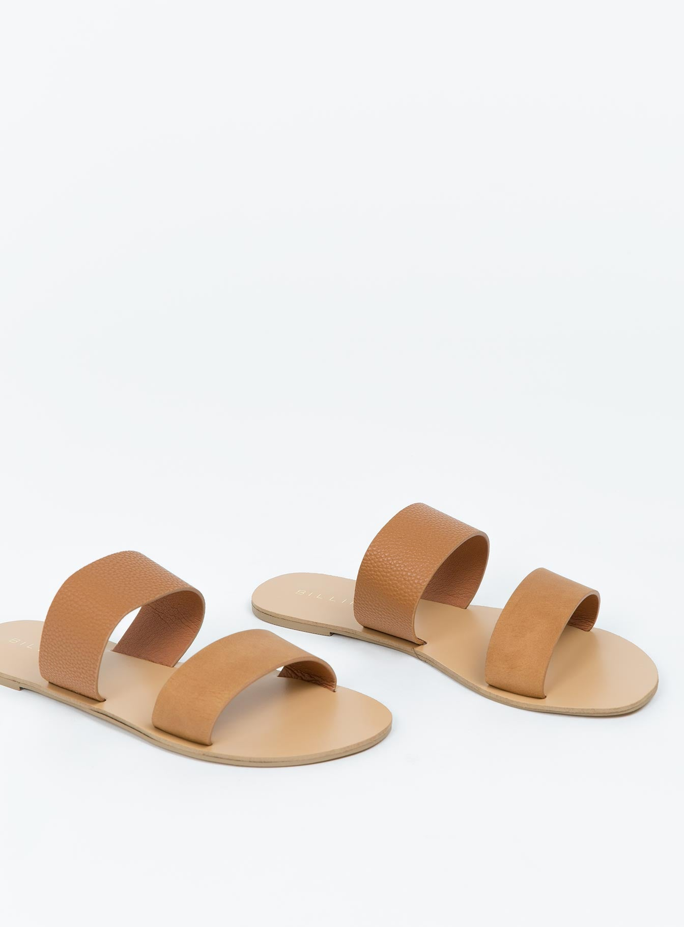 Billini Tan Pebble Cuban Slides