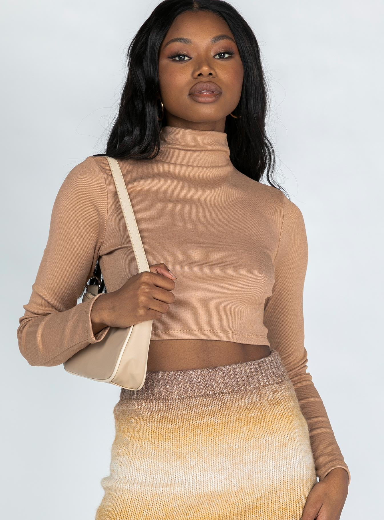 Nicola Long Sleeve Top Brown