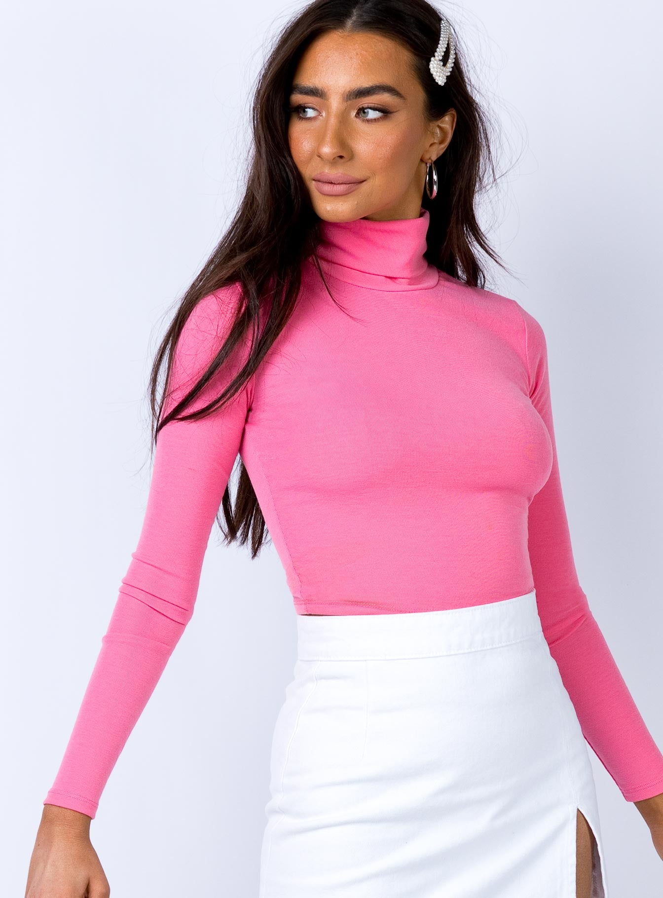 Droplets Top Pink