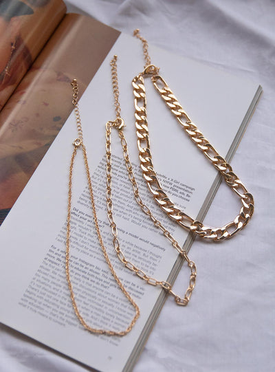 Trisha Necklace Set Gold