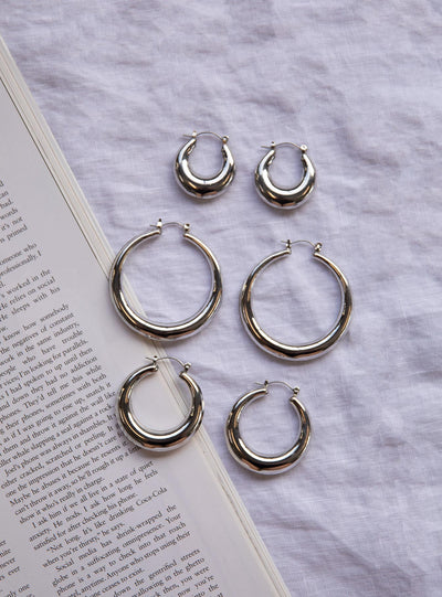 True Paradise Earring Set Silver