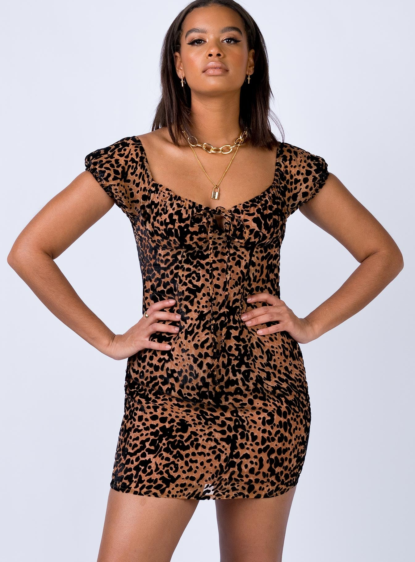 Leopard Dreams Mini Dress