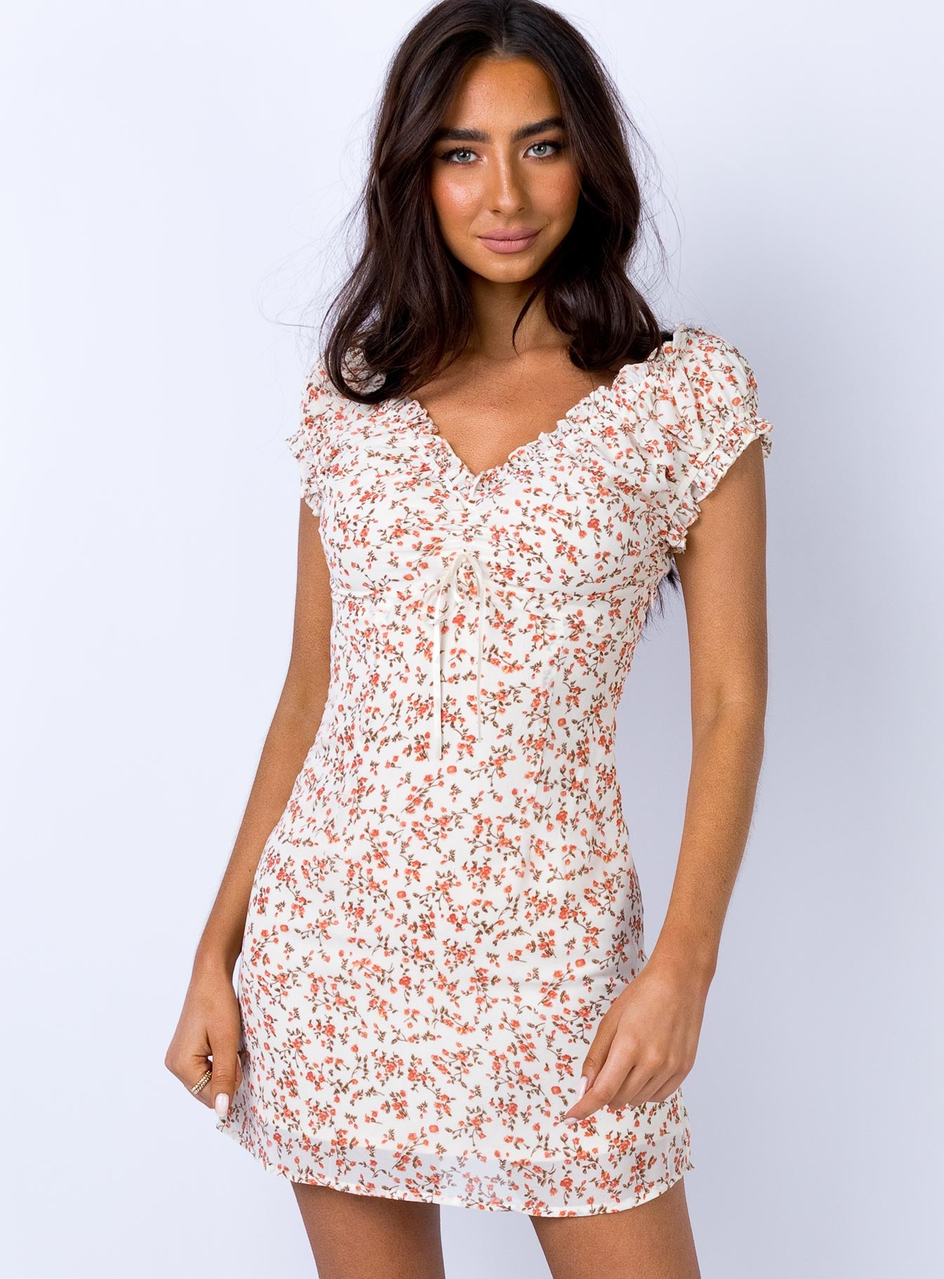 LeAnn Mini Dress Off White