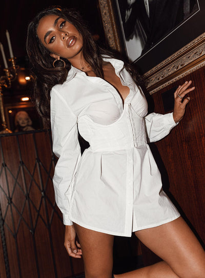 Risky Business Shirt Mini Dress