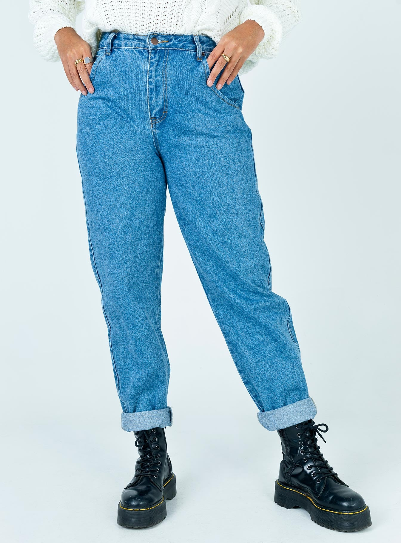 Harriett Dad Jean Mid Wash Denim