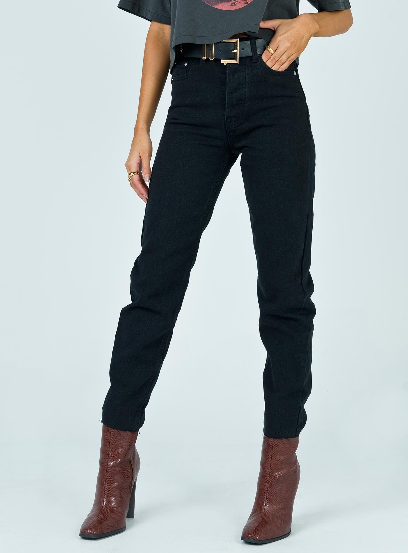 Attica Straight Leg Jean Black Denim