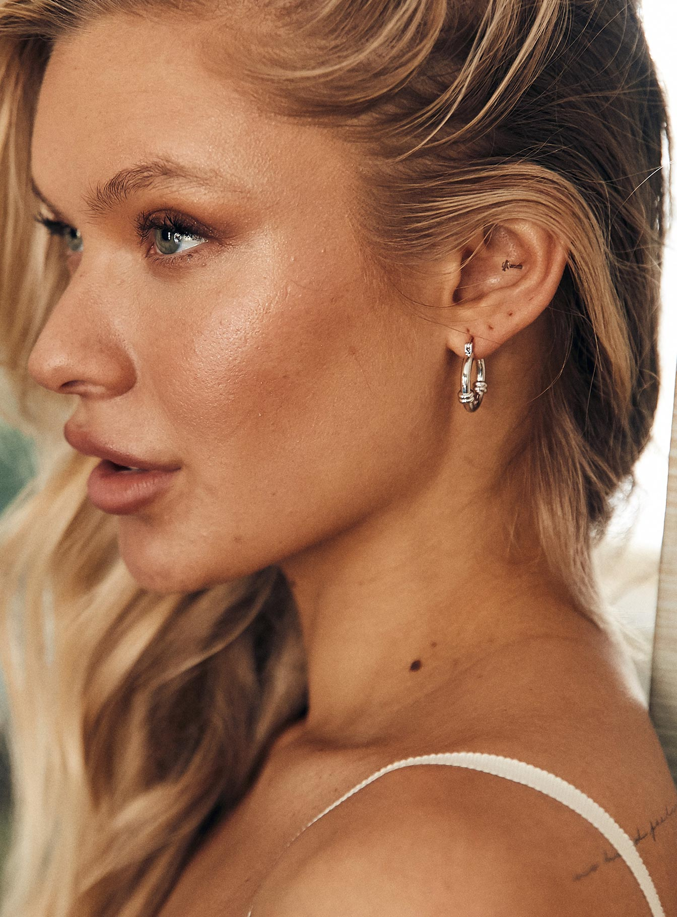 The Hali Hoop Earrings Silver