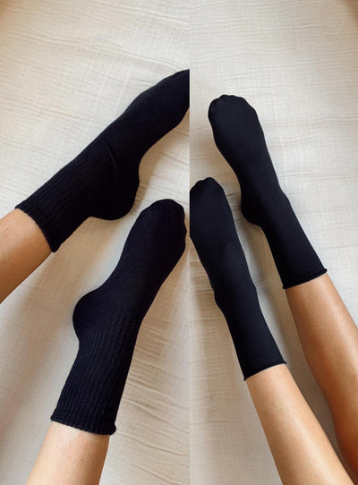 Slinky & Sporty Sock Pack Black