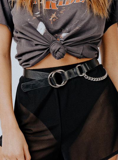 Tell Me Lies Belt Black