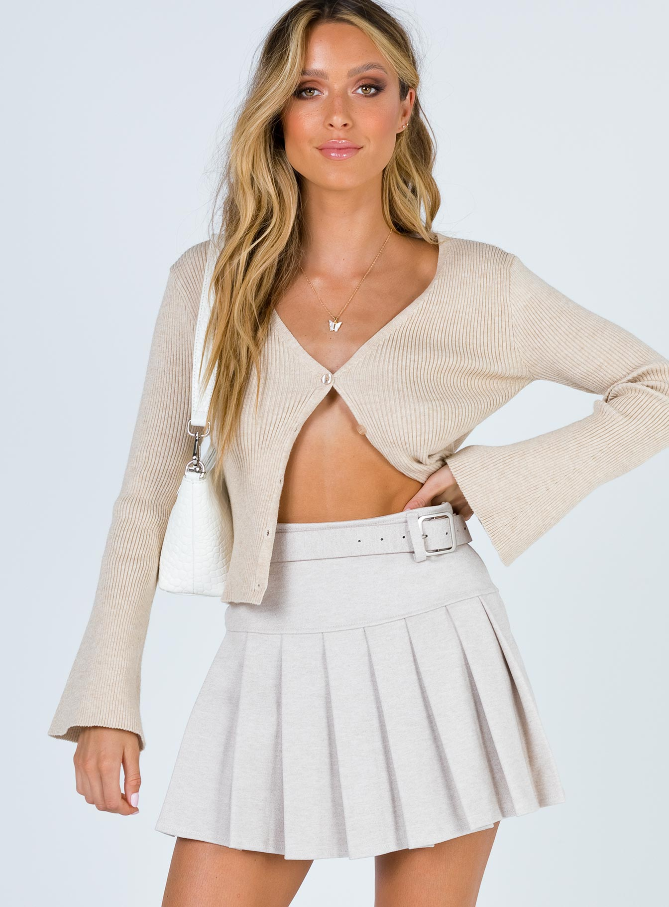 Daphne Mini Skirt Beige