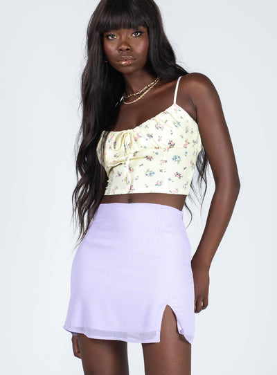 Hadley Mini Skirt Lilac