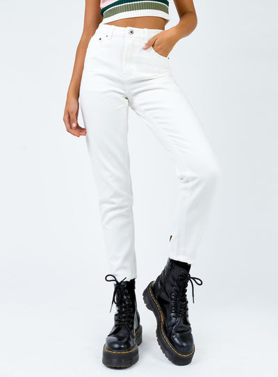 Zaiden Straight Leg Jeans White Denim