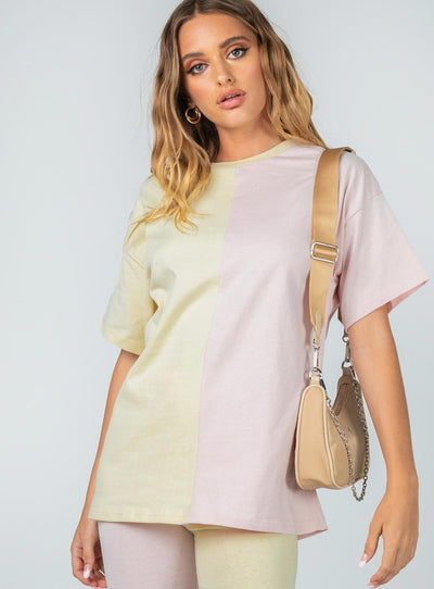 Elisia Tee Yellow / Pink