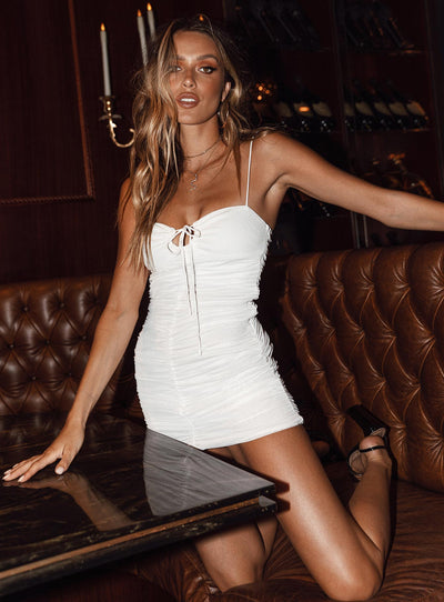 Sassy Mini Dress White