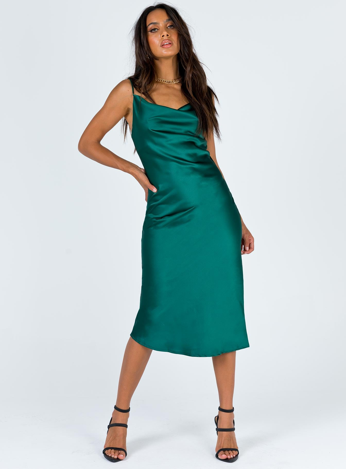 Betta Vanore Midi Dress Forest Green
