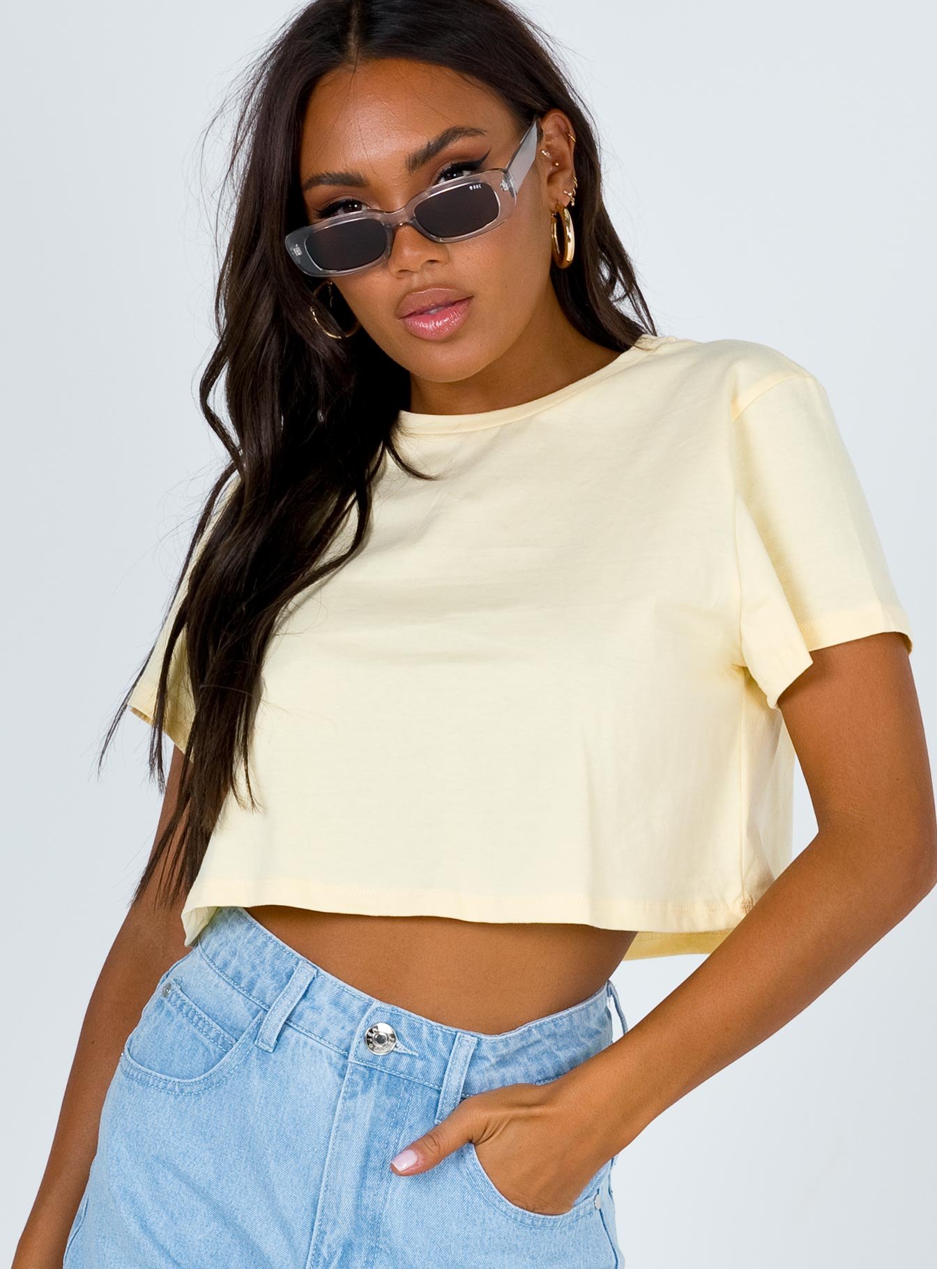 The Polly Tee Soft Yellow