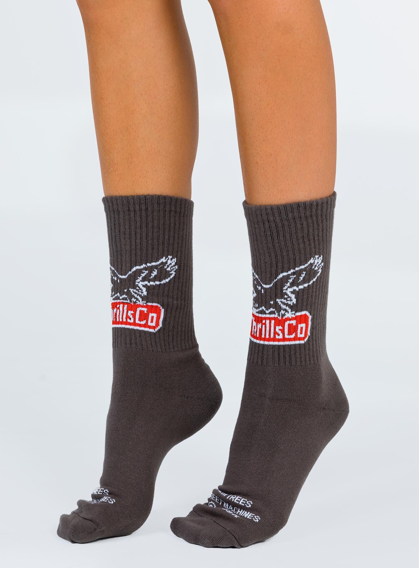 Thrills Landed Eagle Sock Merch Black