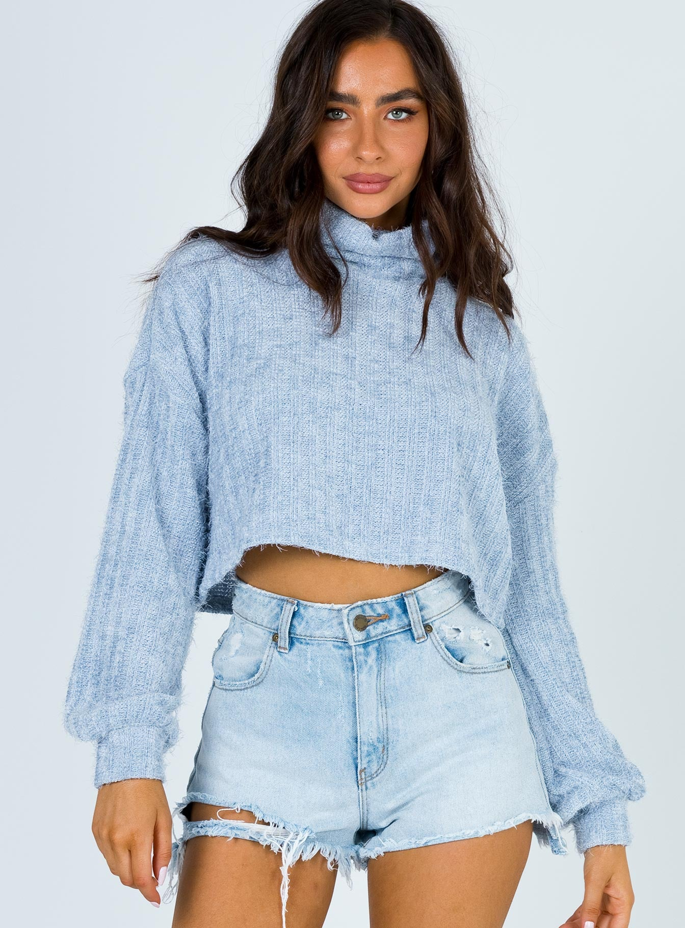 TWIIN Record Roll Neck Top