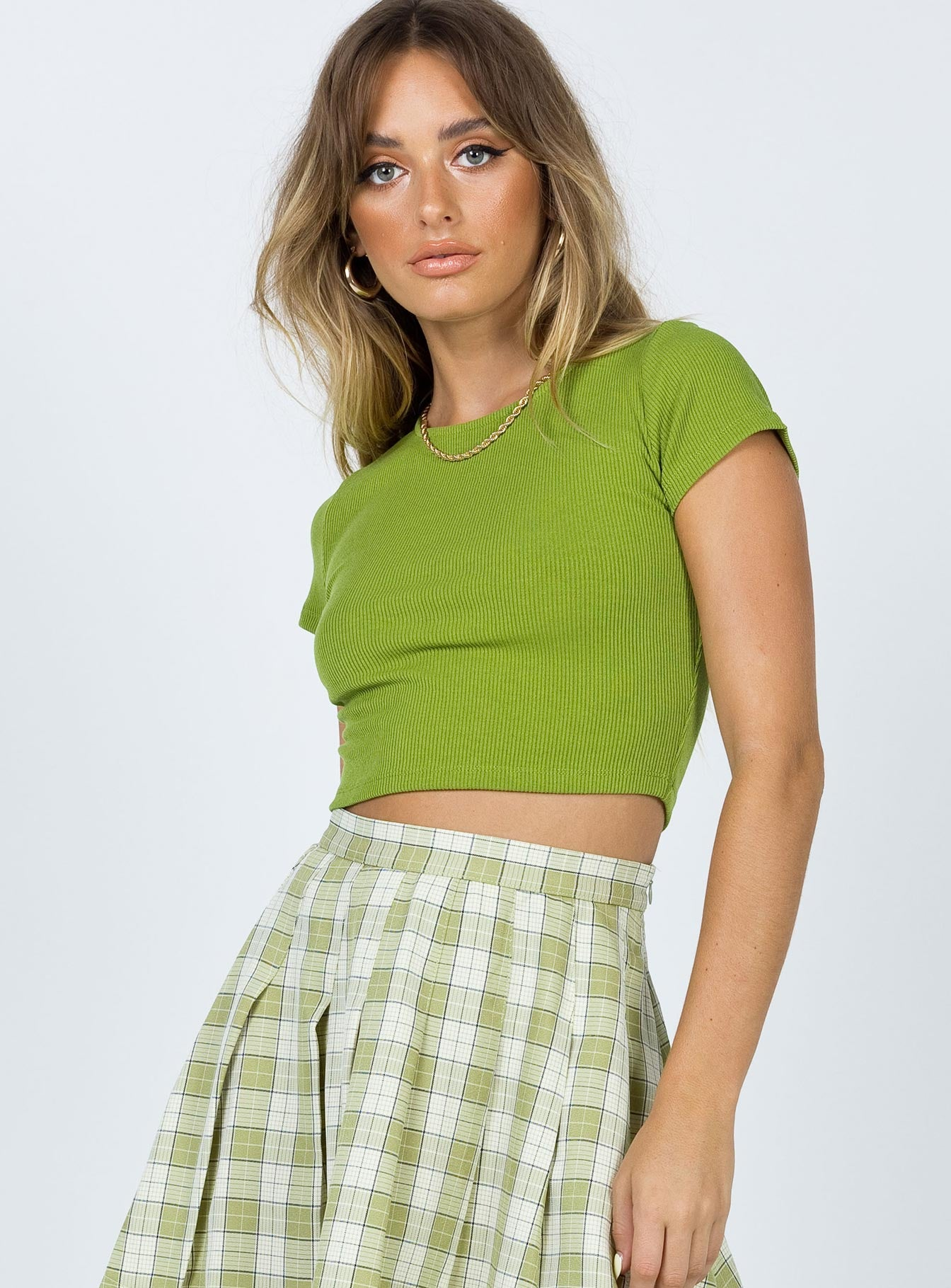 The Classic Cropped Tee Green