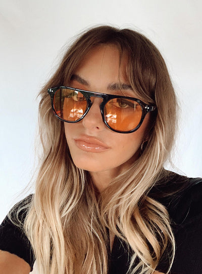 Matilda Sunglasses Black / Orange