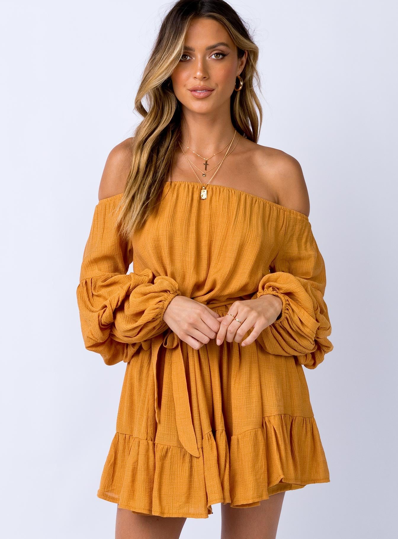 Kelda Mini Dress Mustard