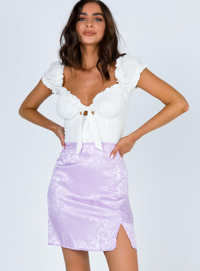 Girls Don't Cry Mini Skirt Purple