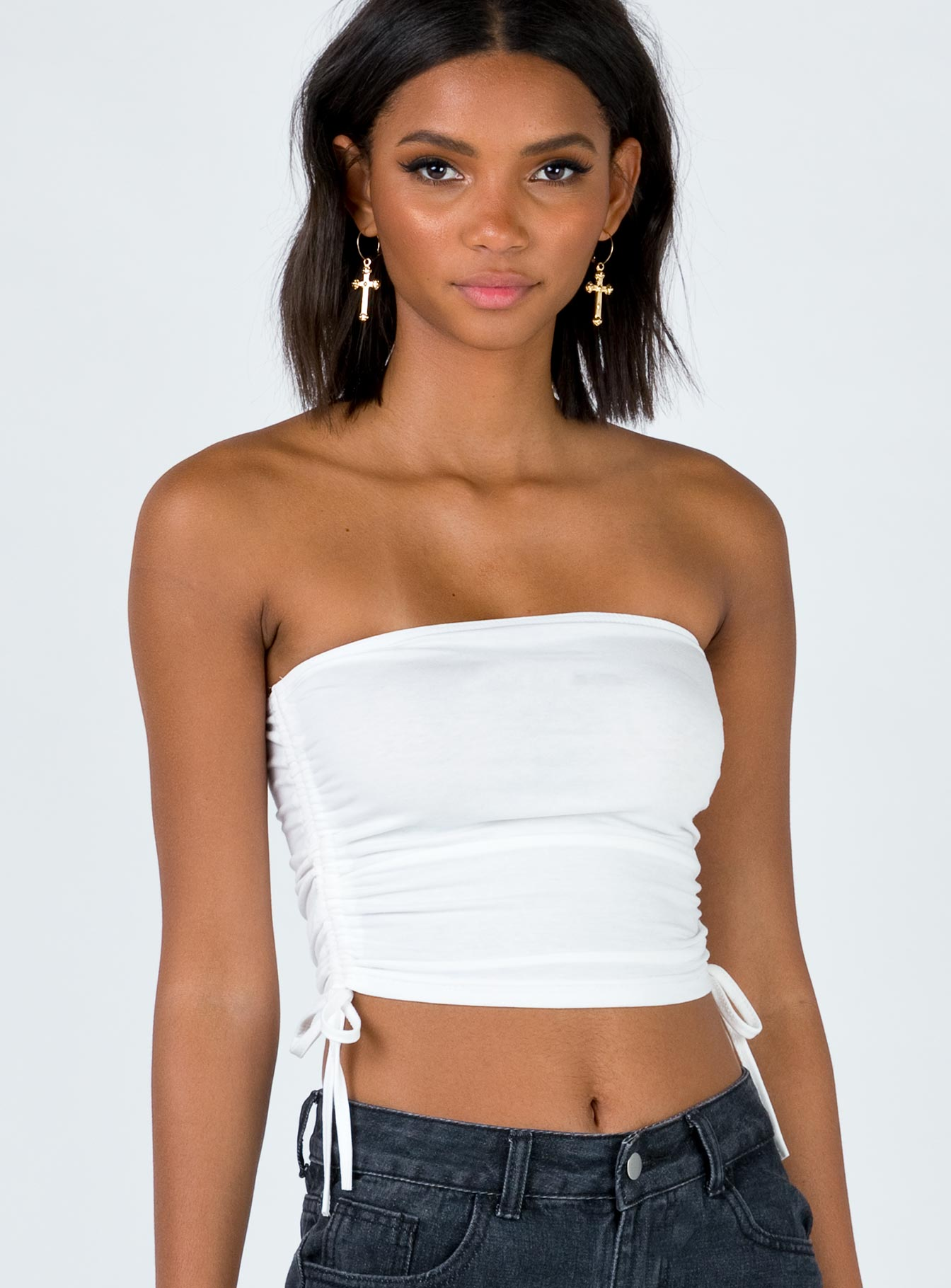 Jari Tube Top White
