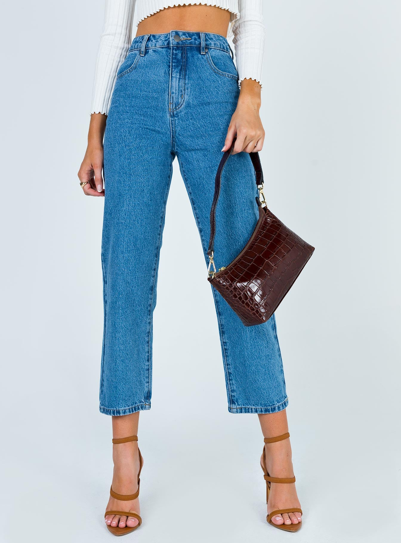 Afends Shelby Denim High Waist Wide Leg Jeans