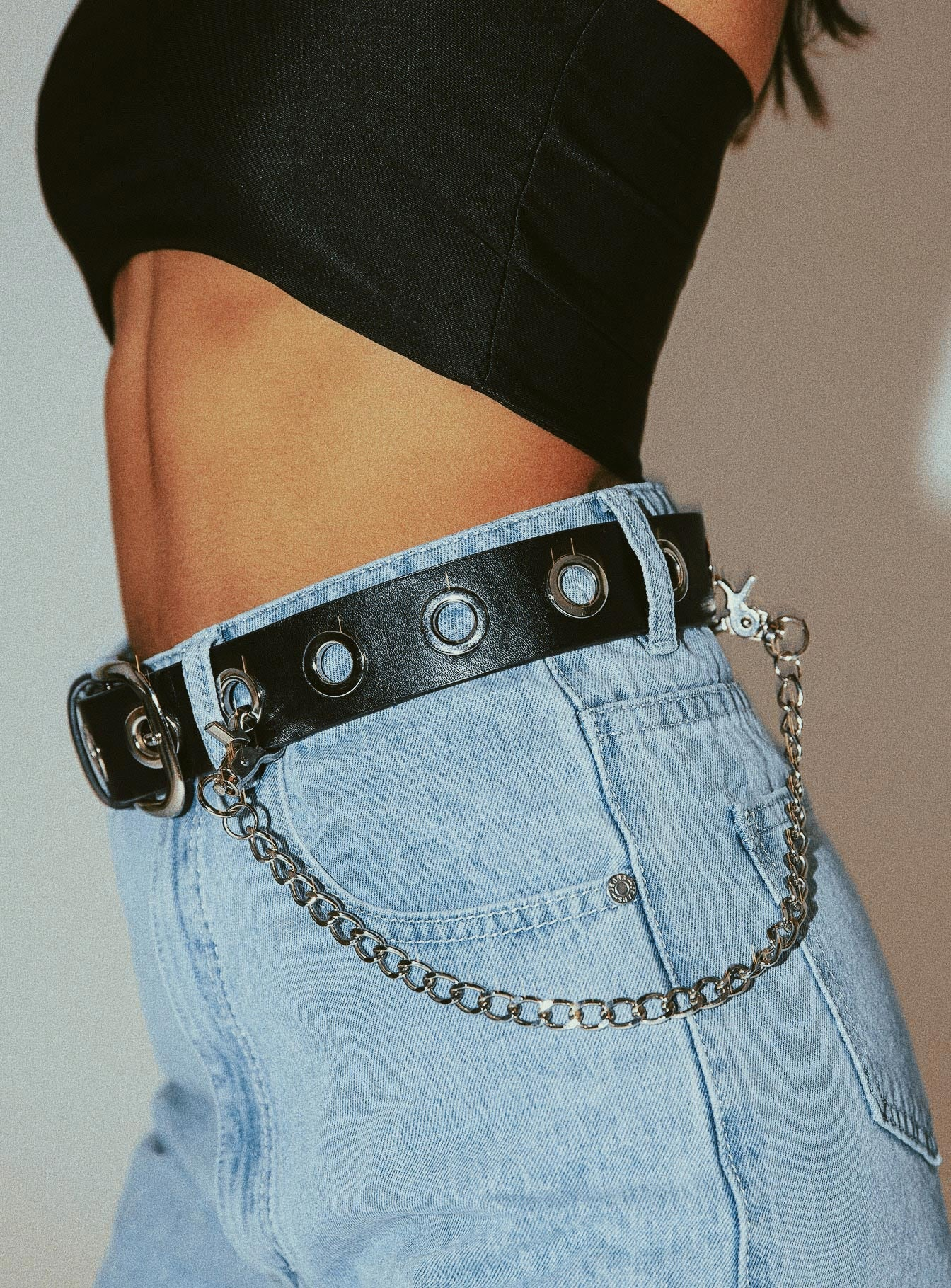 Short Pant Chain Silver