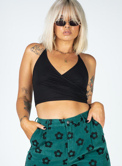 Bennett Crop Top Black