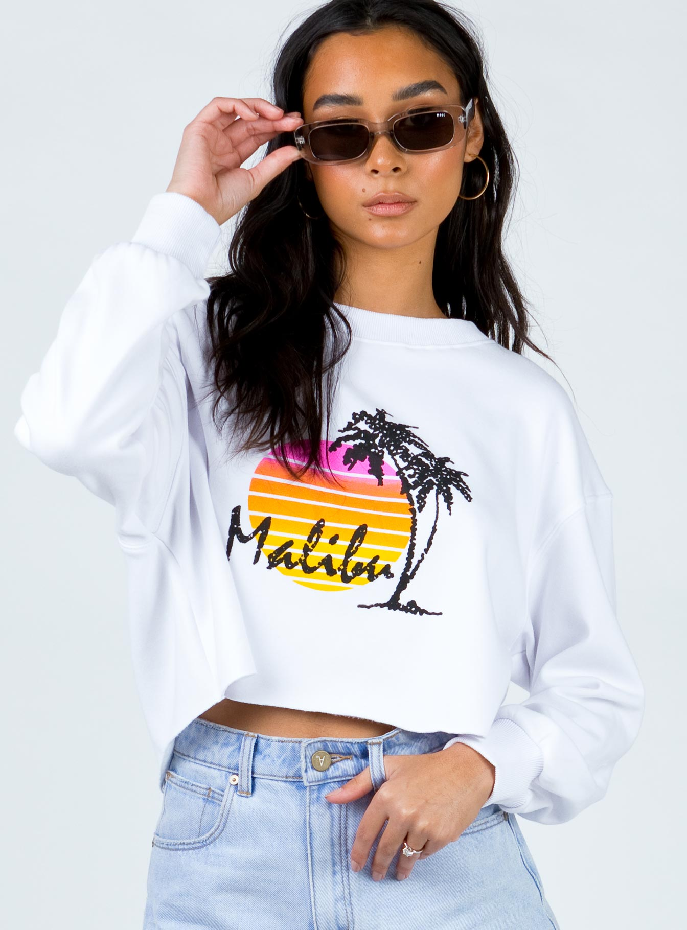 Sunset Coast Jumper White
