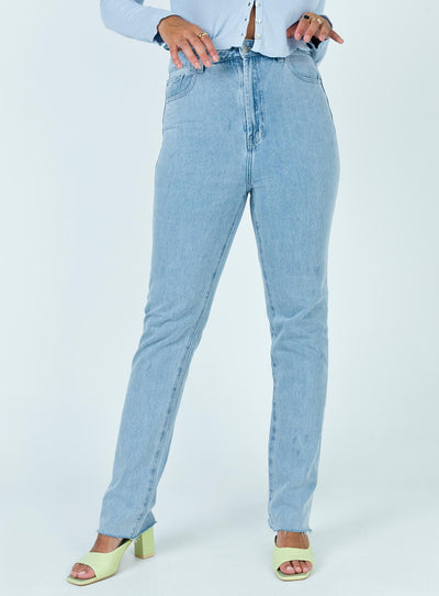 Aston Straight Leg Mid Wash Denim Jeans