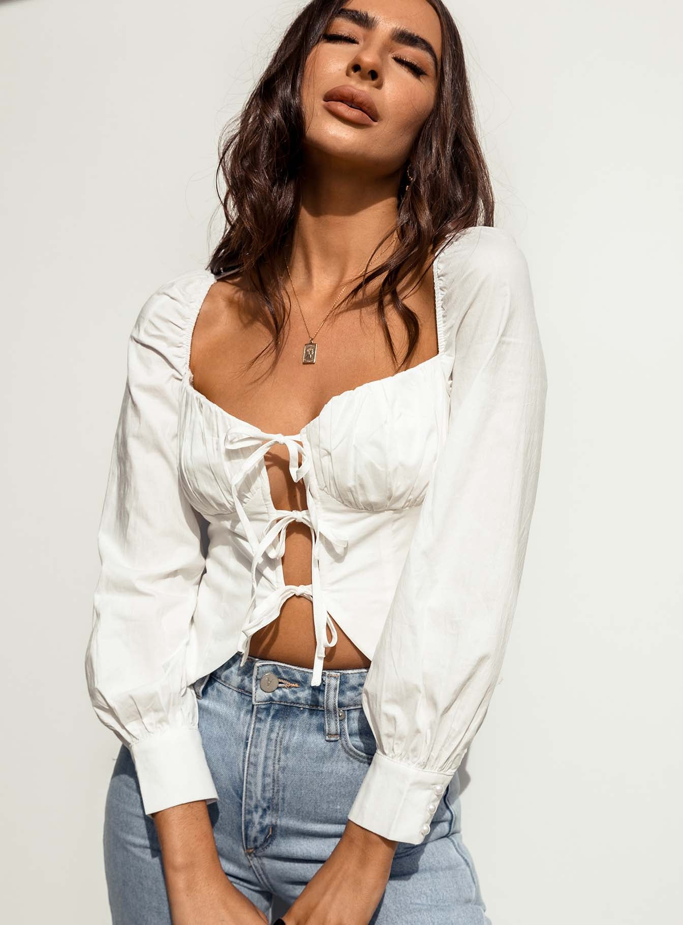 Henley Top White