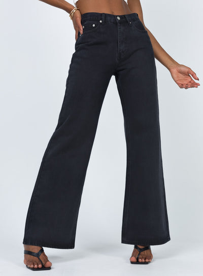 Maple Flare Jeans Black