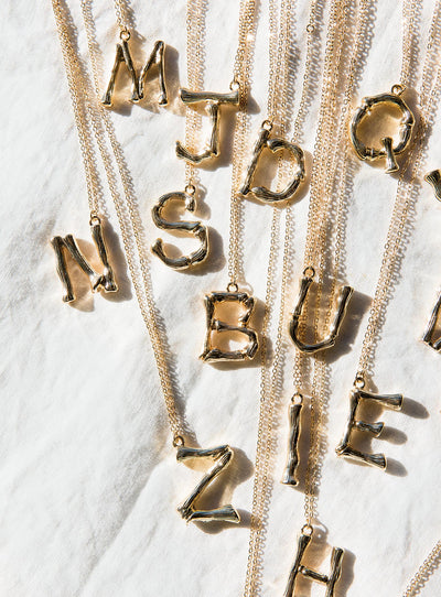 Your Letter Necklace Gold