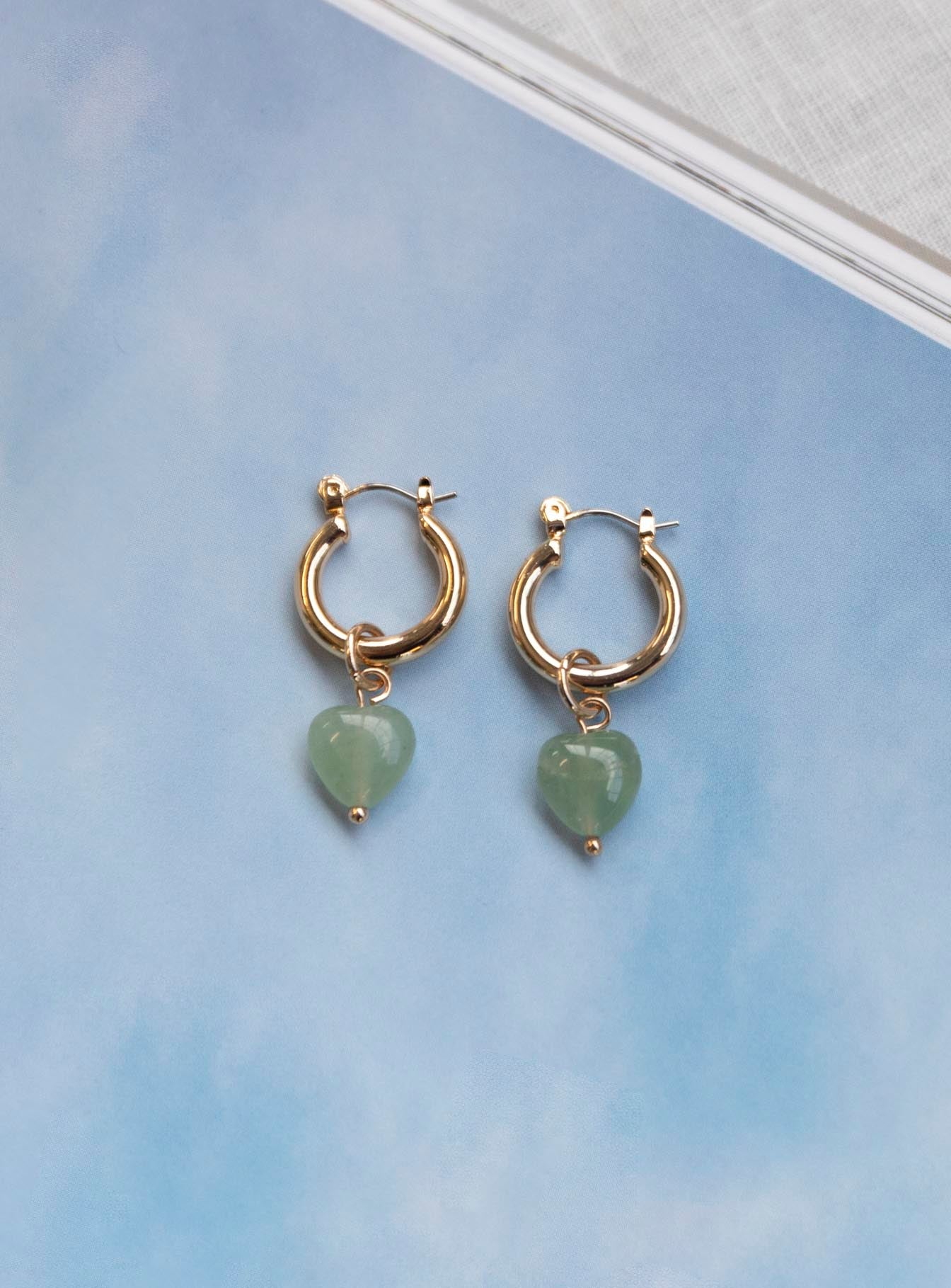 Breaking Hearts Earrings Green