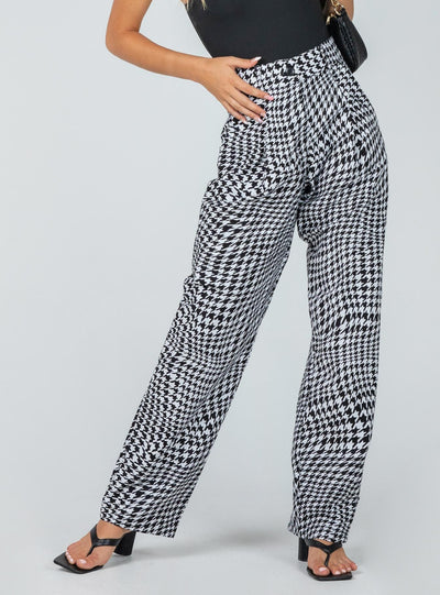 Motel Sakila Trouser Wavey Dogtooth