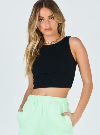 Darlington Crop Top Black