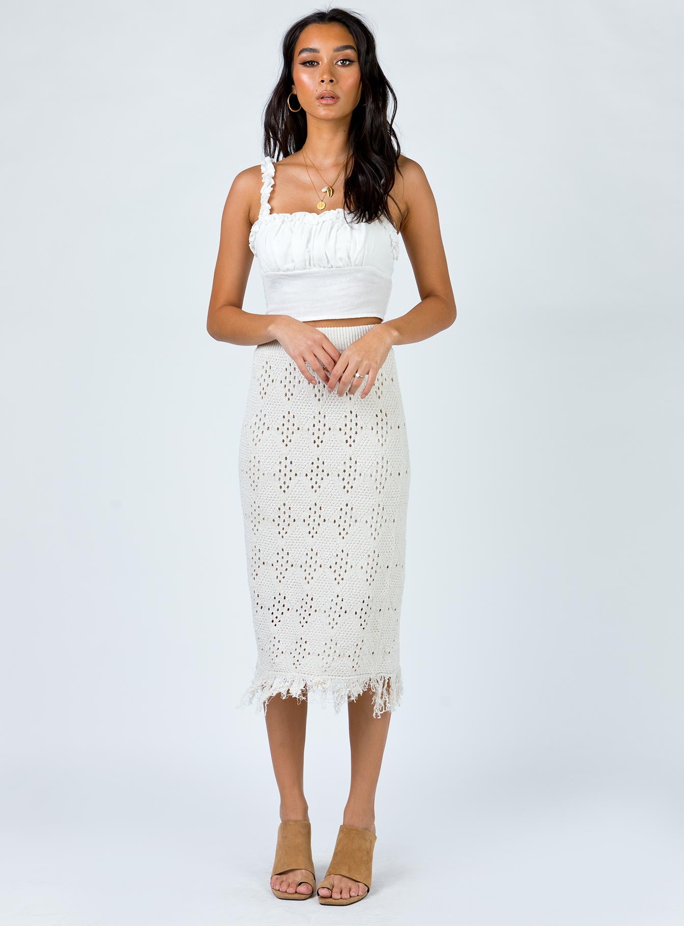 Freyer Midi Skirt Cream