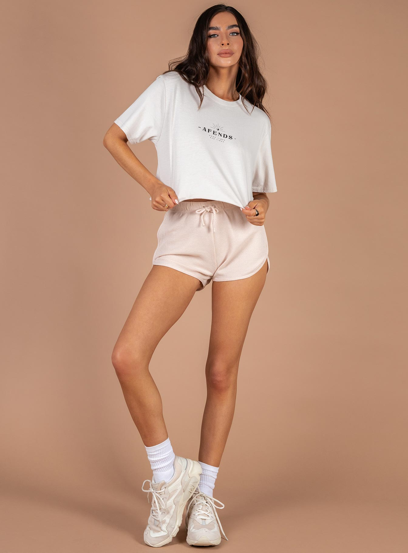 Afends Aurora Cut Off Boyfriend Fit Tee