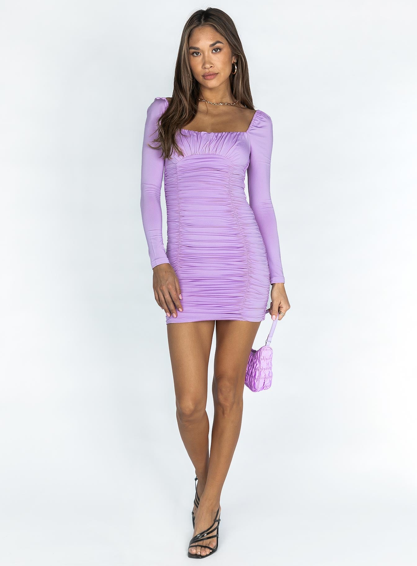 Molly Mini Dress Lilac
