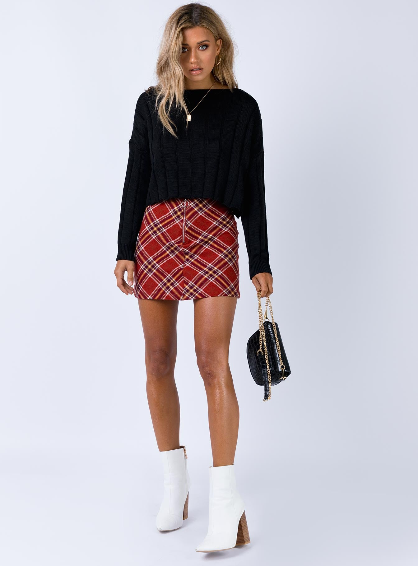 Darwin Mini Skirt Red Multi
