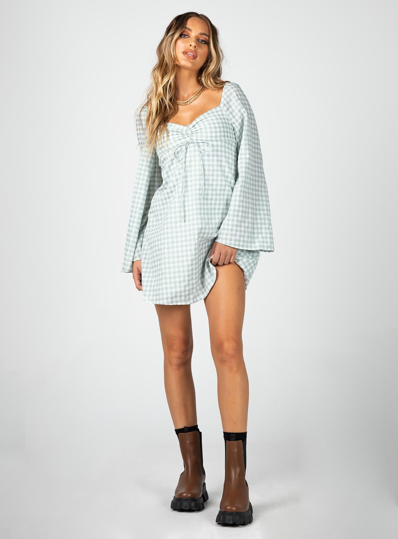 Matilda Mini Dress Sage