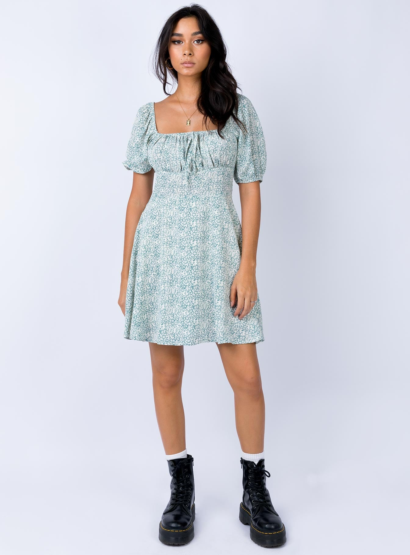 The Elmore Mini Dress Mint
