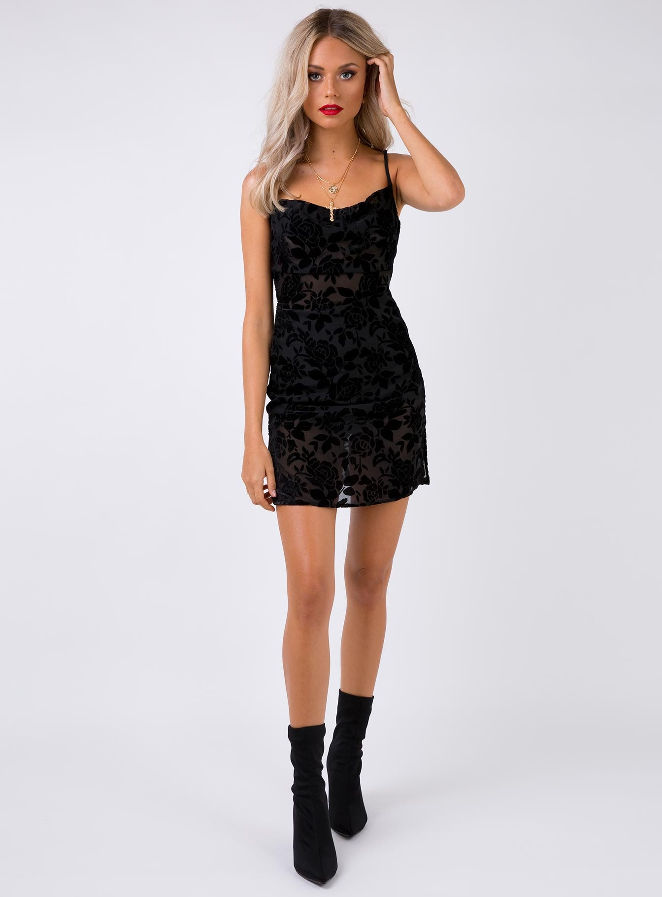 Mixed Messages Mini Dress Black