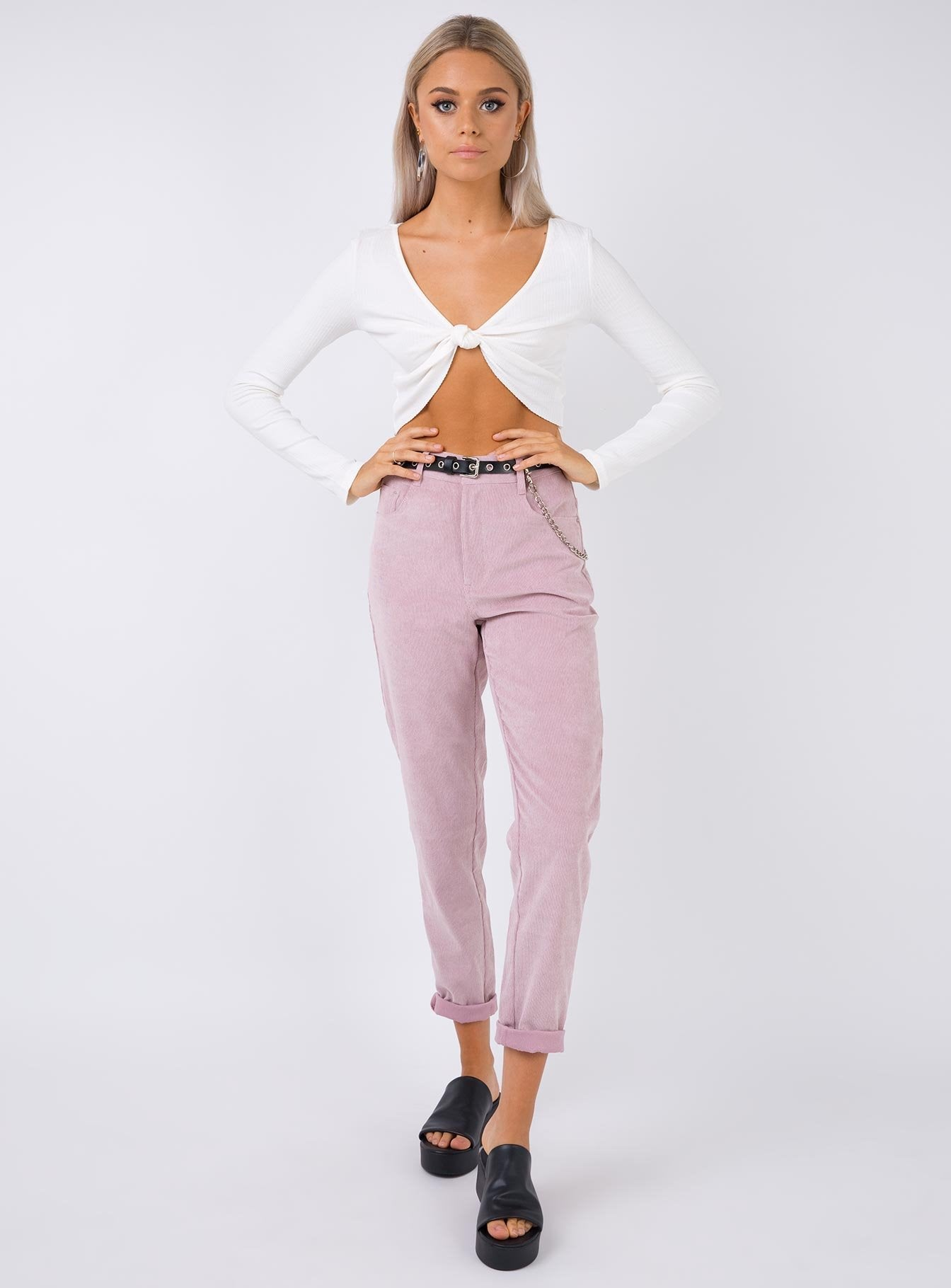 The Kaia Pants Lilac