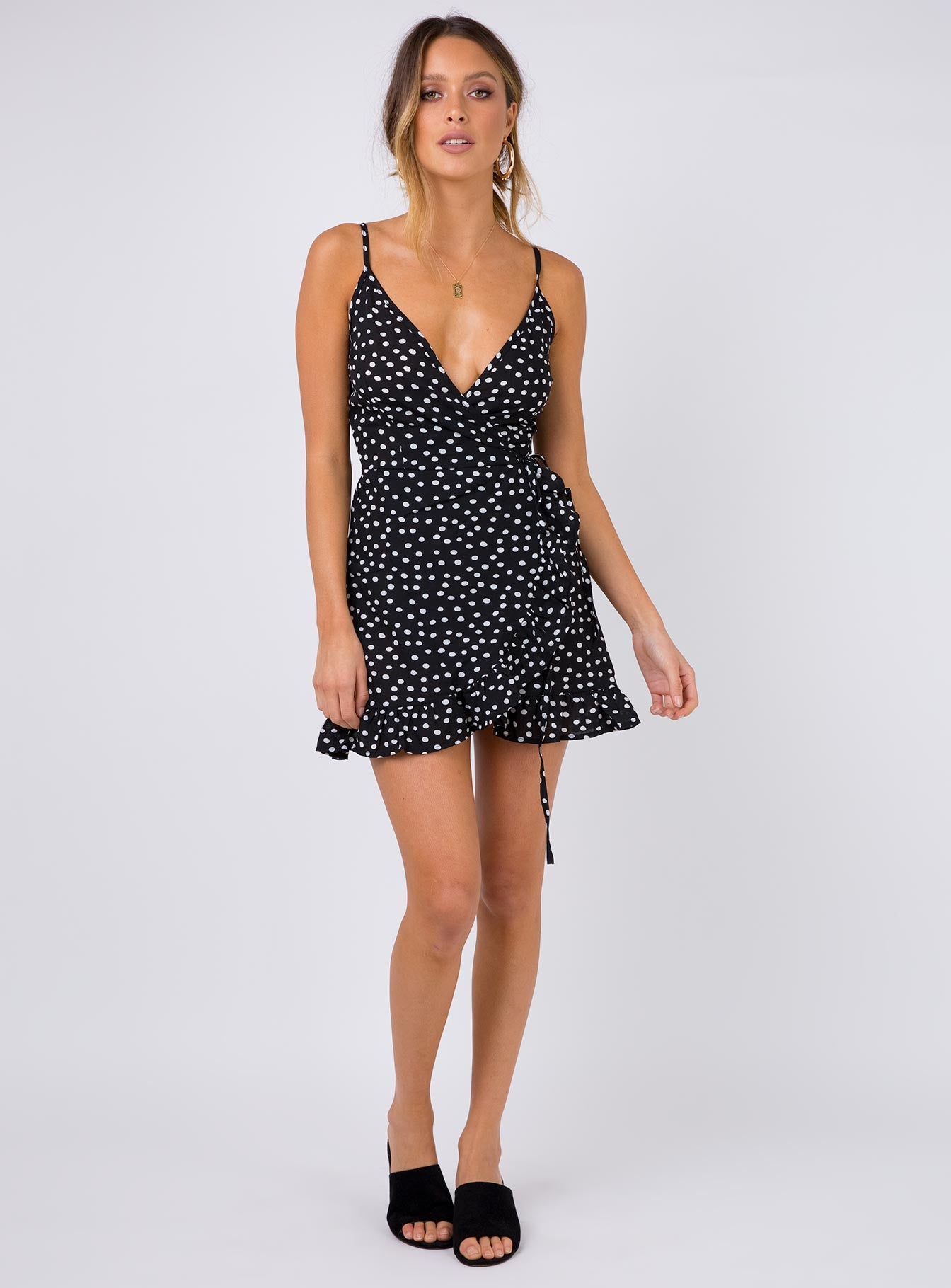 Her Jewel Mini Dress Black