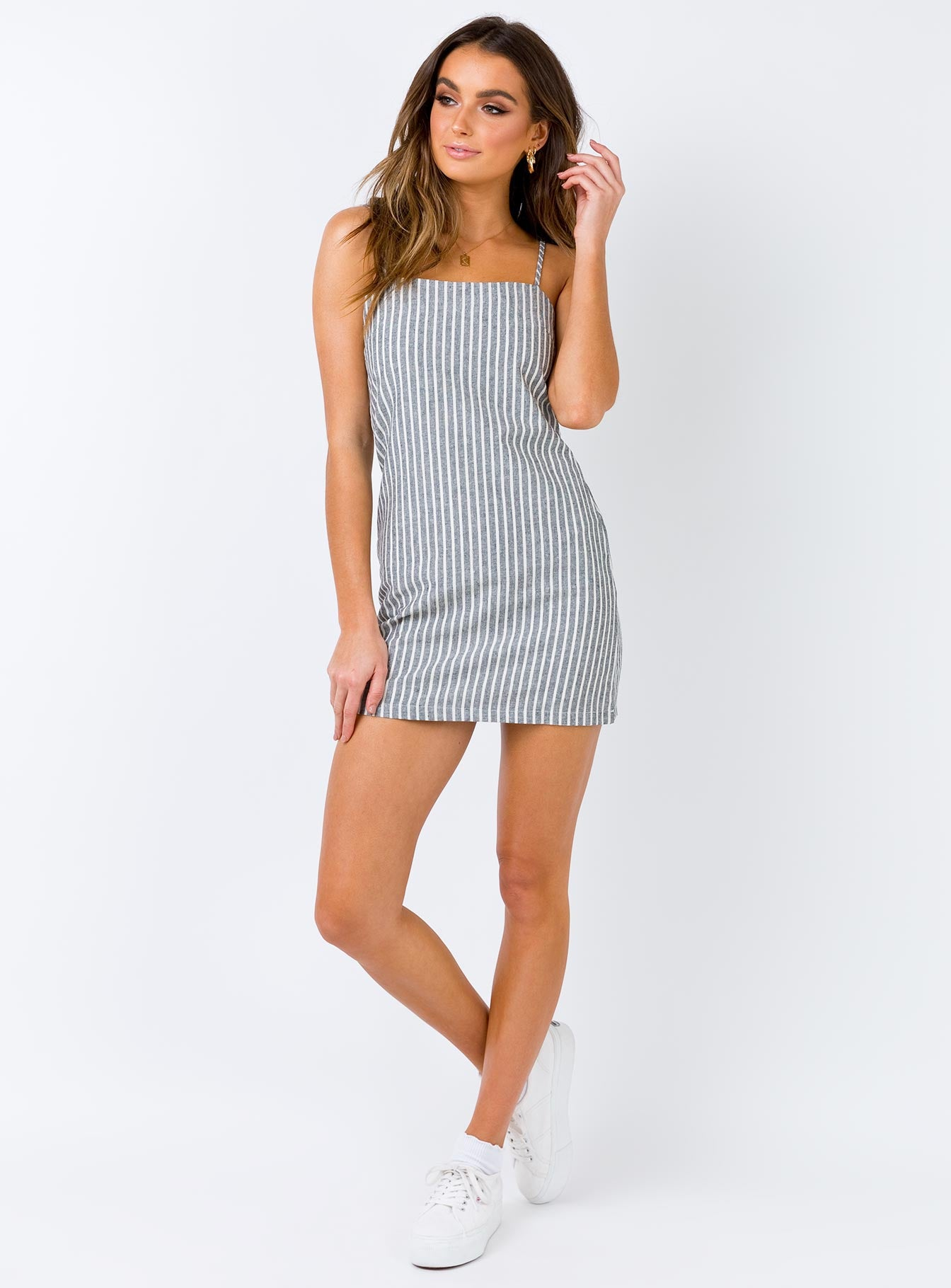 Missing Soul Mini Dress Grey